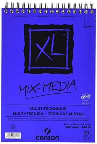 Canson 807215 Zeichenpapier Block XL - Mix Media, DIN A4, 300 g/qm, 30 Blatt