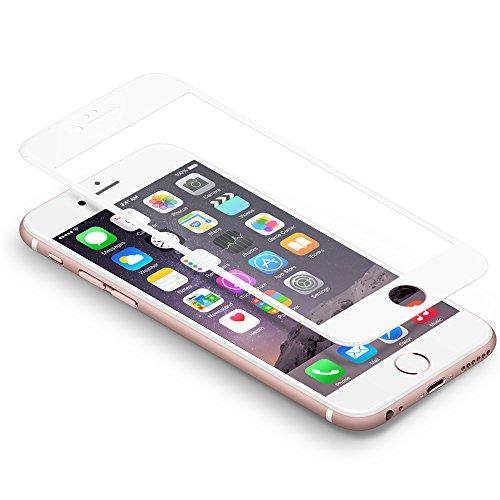 iPhone 6 Protector de pantalla Coolreall 3D completo cobertura blanco