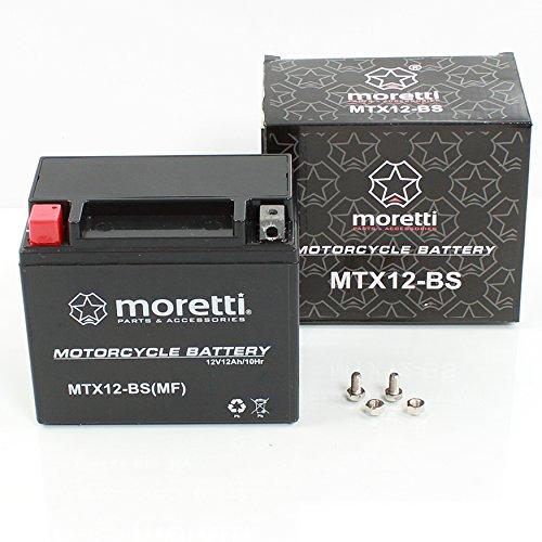 MORETTI mtx12-BS Gel Moto Scooter Quad Batteria