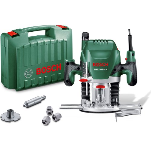 "Advanced Bosch POF 1400ACE 1/4"" Plunge Router 1400w 240v [Pack of 1] --"