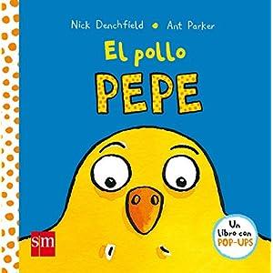 El pollo Pepe está creciendo mucho porque come muy bien