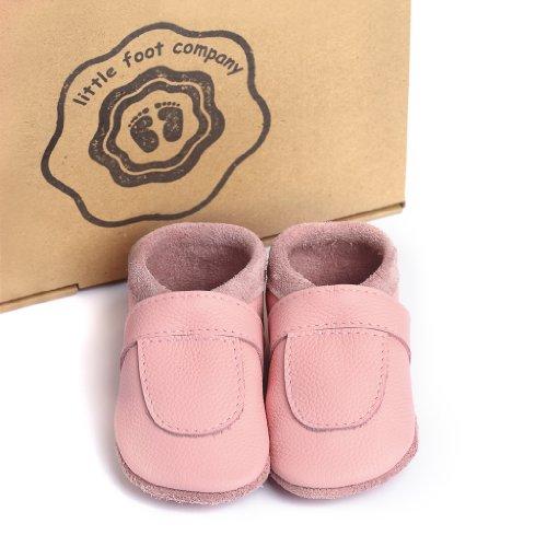 Deutschland Weiches Rosa Babypuschen Little Handgemachte Komfortleder Krabbelschuhe Aus Company® In Foot Markenqualität wfwYXH