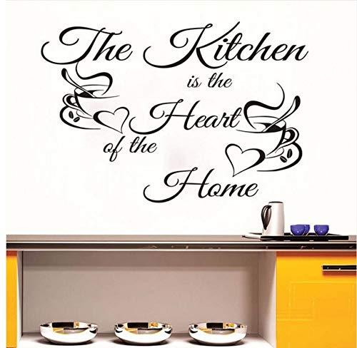 Lvabc Kaffeetassen Diy Decorativethe Küche Ist Das Herzstück Des Hauses Wandaufkleber Schränke Pvc Wasserdichte Selbstklebende Tapete 59X40Cm (Herzstück Halloween Diy)
