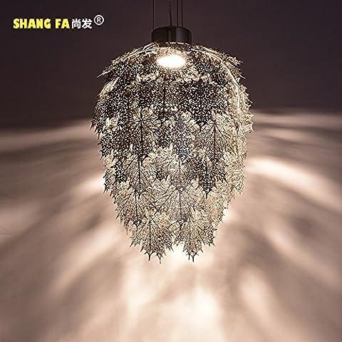 Moderna lampada pendente Dopo lampadari moderni personalità creative soggiorno ristorante lampade highstreet maple leaf lampadari, oro ,65*95cm villa