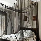 Enjoygoeu Moskitonetz Doppelbett Eckig Fliegennetz Mückennetz Großes Feinmaschiges Moskitonetz Reise zu Hause 190 x 240 x 210cm, Schwarz