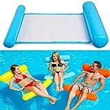 Wasserhängematte Aufblasbare Luftmatratze Wasser Klappbare Pool schwimmende Bett Mesh Lounge,130x73cm,Blau, von Asta