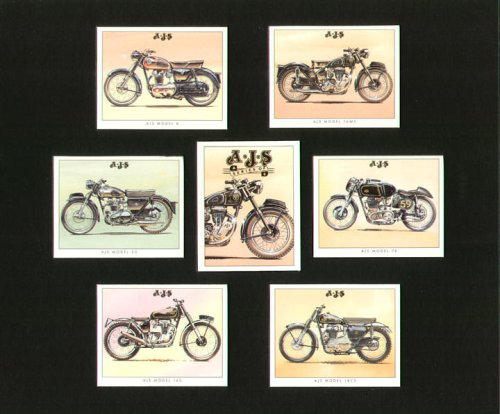 A.J.S. Motorrad-Modell 16MS, 8, 7R, 20, 18CS, 16C-Sammler Karten (18 Bike-motoren-kit)