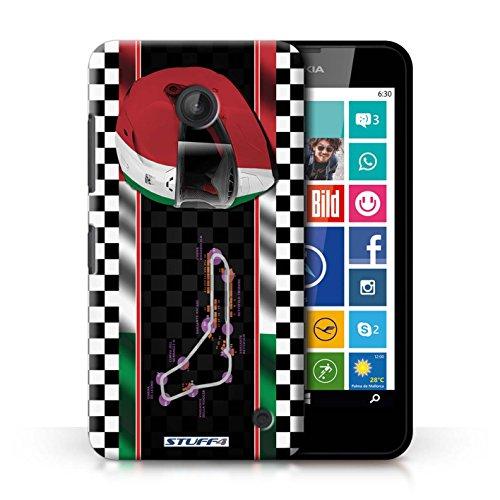 Kobalt® Imprimé Etui / Coque pour Nokia Lumia 630 / Brésil/SãoPaulo conception / Série F1 Piste Drapeau Italie/Monza
