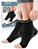 Dr. Fredericks originale orthopädische Plantarfasziitis-Socken - 1 Paar - Fußbandage zur Schmerzlinderung am Fußgelenk für Herren&Frauen - Orthese bei Fersensporn (Medium)