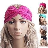 Sunnywill Mode Frauen Kopfbedeckung Twist Sport Yoga Spitze Stirnband Turban