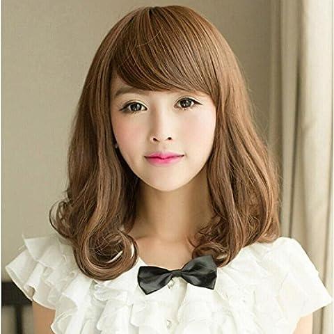 XQXHair Peluca ondulada ondulada larga del peluca de Cosplay del Anime Pelucas sintéticas del pelo de las señoras / pelucas pelucas resistentes al calor del pelo de Lolita Peruca Perruque 42cm 210g / pc
