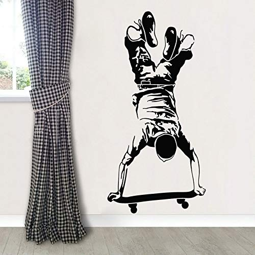 all Sticker Skateboarding Wall Decal Kids Boy Schlafzimmer Extreme Sport Wallpaper Skateboard Vinyl Wall Poster ()
