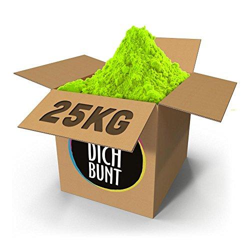 Mach Dich Bunt GmbH Mikrokonfetti - Holi Farben Bulk 25,0 kg - Festivals, Firmenfeiern, Geburtstage und Shootings - So läuft Dein Event auf Hochtouren!, Farbe:Grün