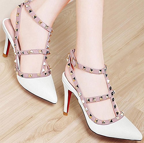 Sommer Sandalen befestigt Schuhe fein mit hochhackigen Sandalen Frauen White