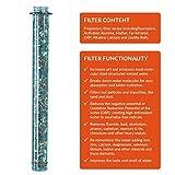 Invigorated Water – pH REVIVE – Trinkflasche mit Wasserfilter für basisches Wasser – mit Transporthülle – Aquablau – 750 ml - 11