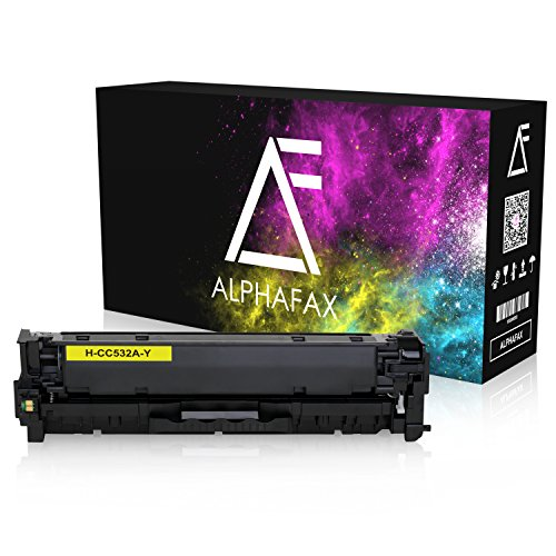 Alphafax Toner kompatibel zu HP CC532A Color Laserjet CP 2000 2020 2025 X 2024 2026 2027 DN N cm 2300 Series 2720 2320 FXI CB CBB CI EB EBB Ei N NF WB WBB WI MFP 2323-304A - Yellow 2.800 Seiten Fxi Serie
