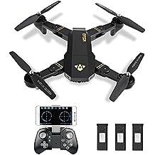 ToyPark XS809W Selfie Cámara plegable Drone FPV WIFI Quadrocopter Transmisión en vivo APP controlable Hover 12 minutos tiempo de vuelo de grandes dimensiones para todos los niveles de piloto