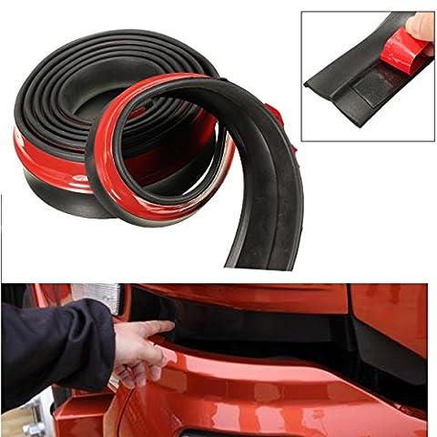 Audew Car Black Front Bumper Rubber Protector Lip Splitter Body Spoiler Universal 98 Inch