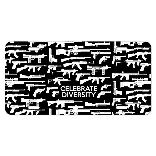 Monsety Nummernschild Cover Herren Guns Waffen für Gewehre Vielfalt zweite 2nd änderungsantrag KFZ Tag deckt Auto Schild -