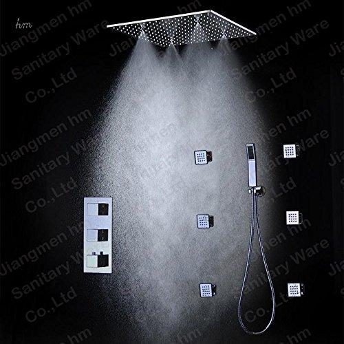 HM 3Funktion Thermostat-Dusche Combo mit 50,8cm Rains mistfall 6Seitenbrausen Handbrause (Handbrause-sets Kohler)
