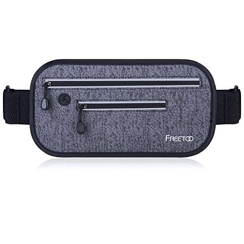 FREETOO Hüfttasche Unsichtbar Lauftasche Wasserdicht Gürteltasche Schweißfest Geeignet für Handy unter 6 Zoll Ultra-dünne Portable und Hautfreundliche Joggen Bauchtasch