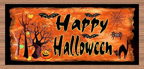 Dozili Holzschild Happy Halloween, 25,4 x 38,1 cm (Pooh The Halloween Winnie Happy)