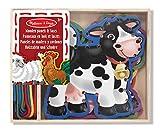 Melissa & Doug 13781 - 5 Pannelli in Legno e 5 Stringhe di Colore Intonato, Animali da Fattoria