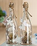Glas Deko-Flasche Primavera 1 Stück L 0 x B 0 x H 29 cm klar, mit Holzklammer, Vogel