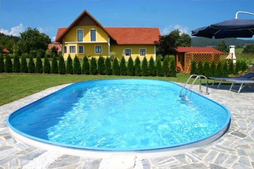 Schwimmbecken Oval Pool Lugano 3,50 x 7,00 x 1,50m