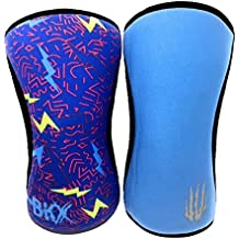 #1 Knee Sleeves (SOLD AS A PAIR of 2) Compression and Support for Weightlifting, Powerlifting and CrossFit - 5mm Neoprene Sleeve for the Best Squats - Both Women & Men - Bear KompleX LIGHTNING 7mm S