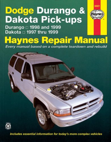 Dodge Durango Haynes (Dodge Durango and Dakota Pick-Ups 1997-99 (Haynes Manuals))