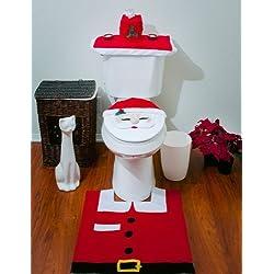 Set of 3 Christmas decoration Santa para WC