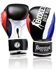 Boxeur Des Rues Fight Activewear Match Guante de Boxeo, Color Plateado azul turquesa Talla:12 OZ