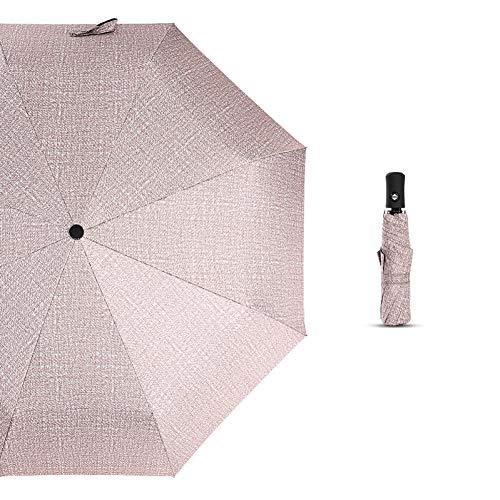 SHILILI Sonnenschirm 4 Farbe Automatische Geschäft 3 Taschenschirm Männer Und Frauen Anti-Uv Winddicht 8K Regenschirm