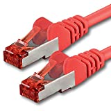 1aTTack.de 7682818-5m - CAT6 Netzwerkkabel CAT.6 Patchkabel (PoE) Ethernetkabel SFTP PIMF 1000 Mbit/s - 1 Stück - rot