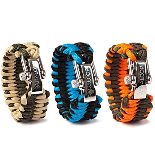 PARALOOP® – Das ORIGINAL – Survival Paracord-Armband – inkl. GESCHENKVERPACKUNG – 100% Handarbeit – mit verstellbarem Edelstahlverschluss – für Outdoor-Liebhaber