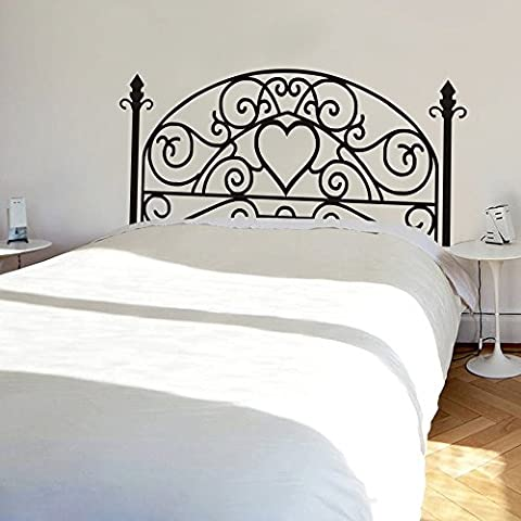 Wrought Iron Headboard Wall Decal Square Plant Wall Sticker Bedroom Wall Decor Wall Graphic Wall Mural Headboard Wall Decoration