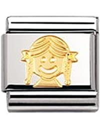Nomination Composable Classic FUN Edelstahl und 18K-Gold (Madchen) 030110