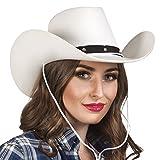 erdbeerloft - Western Hut Kostüm Kappe Cowboy, Weiß