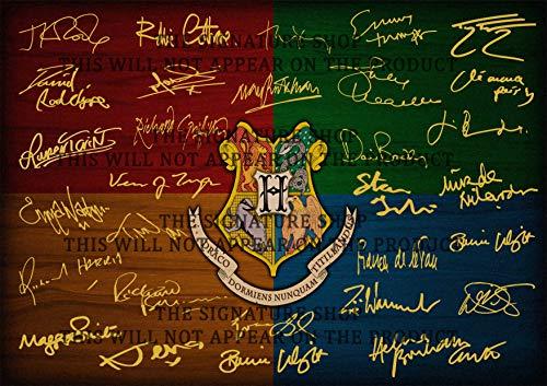 The Signature Shop 2019 Harry Potter Wappen signiert PP x 30 Cast J.K Rowling Daniel Radcliffe Alan Rickman Emma Watson Rupert Grint Helena Bonham Carter Poster Foto A4
