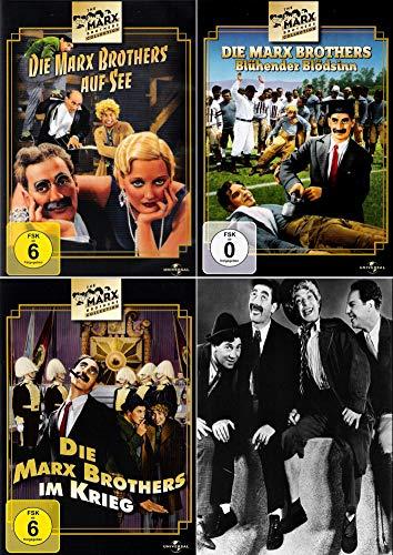 Die Marx Brothers 3er Klassiker-Set | Blühender Blödsinn + Im Krieg + Auf See (3-DVD)