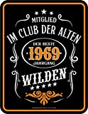 RAHMENLOS Deko Blechschild zum 50. Geburtstag Mitglied im Club der Alten Wilden