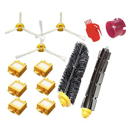 Brosses Latérales + Filtre + Brosse pour Fouet à Poils + Outils de Nettoyage Kit de Rechange Pièces pour iRobot Roomba 700 Aspirateur de série Robots 760 770 780 790