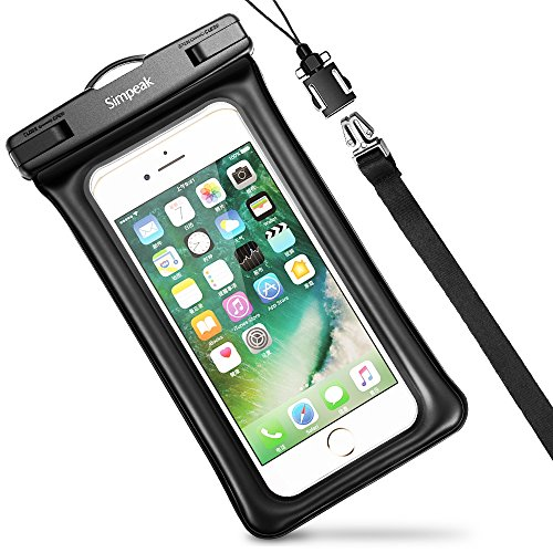 Simpeak-Funda-Impermeable-Mvil-Universal-58-Pulgadas-Bolsa-Movil-Playa-Bolsa-estanca-Sumergible-para-iPhone-7-7-Plus6-6s-Plus-SE-5S-5C-Samsung-Galaxy-S8S7S7-EdgeS6S6-EdgeSamsung-J5-Huawei-P10P10-LiteP