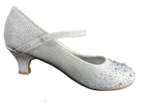 Spot On, Scarpe col tacco bambine Argento (Plateado - plata)