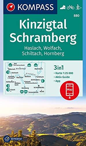 Kinzigtal Schramberg, Haslach, Wolfach, Schiltach, Hornberg: 3in1 Wanderkarte 1:25000 mit Aktiv Guide inklusive Karte zur offline Verwendung in der ... Langlaufen. (KOMPASS-Wanderkarten, Band 880)