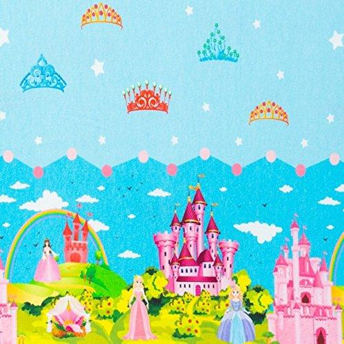 Jersey Digitaldruck mit Bordüre Prinzessin Schloss Krone