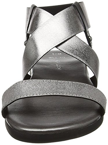 New Look Wide Foot Harriet, Sandales à talon femme Silver (Gunmetal/Pewter)