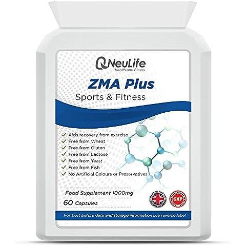 ZMA Plus (Zinco, Magnesio, Vitamina B6) 1000mg - 60 Capsule - Neulife Salute e Fitness
