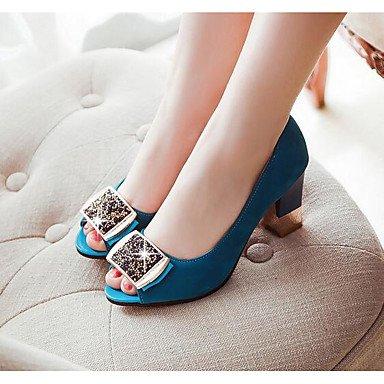 RTRY Donna Sandali Comfort Pu Primavera Estate Casual Blue Nero Rubino 3A-3 3/4In US9.5-10 / EU41 / UK7.5-8 / CN42
